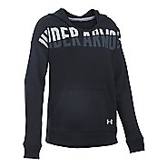 Under Armour Girls Favorite Fleece Half-Zips & Hoodies Technical Tops - Black YL