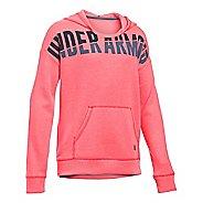 Under Armour Girls Favorite Fleece Half-Zips & Hoodies Technical Tops - Pink Chroma YM