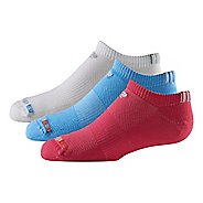 R-Gear Kids Super Breathable Thin No Show 3 pack Socks - Oct Pink/White/Blue XS