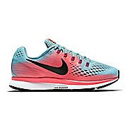 Womens Nike Air Zoom Pegasus 34 Running Shoe - Blue/Pink 8