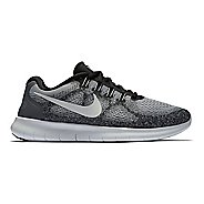 Womens Nike Free RN 2017 Running Shoe - Grey/Black 11