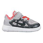 Kids Nike Free RN 2017 Running Shoe - Grey/Pink 10C