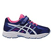 Kids ASICS PRE-Contend 4 Running Shoe - Blue Purple/Pink 3Y