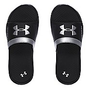 Under Armour Playmaker VI SL Sandals Shoe - Black/Silver 2Y