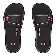 Womens Under Armour Ignite Vlll SL Sandals Shoe - Black/Pink 9