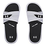 Womens Under Armour  Micro G EV III SL Sandals Shoe - White/Black 6