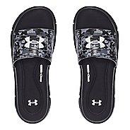 Mens Under Armour Ignite Deception V SL Sandals Shoe - Black/White 8