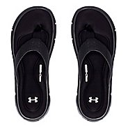 Mens Under Armour Ignite II T Sandals Shoe - Black/Silver 14