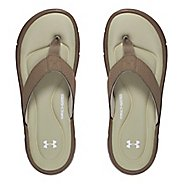 Mens Under Armour Ignite II T Sandals Shoe - Dune/Silver 12