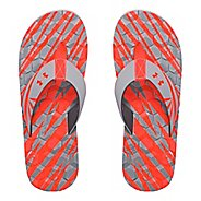 Mens Under Armour Marathon Key II T Sandals Shoe - Grey/Fire 7