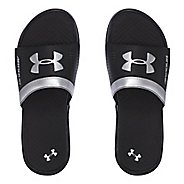 Mens Under Armour  Playmaker VI SL Sandals Shoe - Black/Silver 10