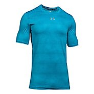 Mens Under Armour CoolSwitch 2C Short Sleeve Technical Tops - Blue Shift M