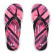 Womens Under Armour Marbella Finisher V T Sandals Shoe - Black/Pink 12