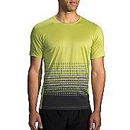 Mens Brooks Ghost Printed Short Sleeve Technical Tops