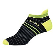 Brooks Launch Lightweight Tab Socks - Black/Nightlife S