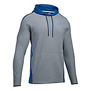 Mens Under Armour The CGI Fleece PO Half-Zips & Hoodies Technical Tops - Steel/Blue M