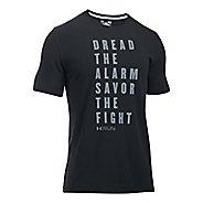 Mens Under Armour Dread Alarm Fight Tee Short Sleeve Technical Tops - Black L
