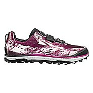 Womens Altra King MT Trail Running Shoe - Grey/Magenta 9