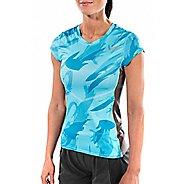 Womens Altra Running Tee Short Sleeve Technical Tops - Blue S