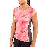Womens Altra Running Tee Short Sleeve Technical Tops - Pink S
