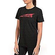 Womens Altra Core Tee Short Sleeve Technical Tops - Black XS