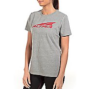 Womens Altra Core Tee Short Sleeve Technical Tops - Grey XS