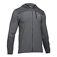 Mens Under Armour Storm Printed Running Jackets - Graphite L