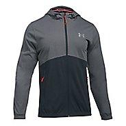 Mens Under Armour Spring Swacket Full-Zip Running Jackets - Graphite/Anthracite XL