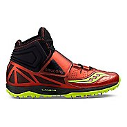 Mens Saucony  Lanzar Jav2 Track and Field Shoe - Red/Citron 14