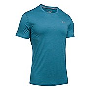 Mens Under Armour CoolSwitch Run V2 Short Sleeve Technical Tops - Bayou Blue L