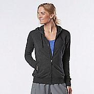 Womens R-Gear Always On Lightweight Half-Zips & Hoodies Technical Tops - Heather Black L
