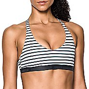 Womens Under Armour Low Strappy Printed Sports Bras - Black XL