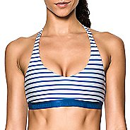 Womens Under Armour Low Strappy Printed Sports Bras - Royal XL