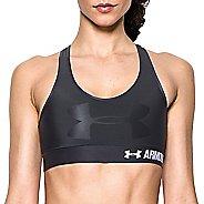 Womens Under Armour Mid  Graphic Sports Bras - Black/Black XL