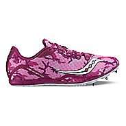 Womens Saucony Vendetta Racing Shoe - Pink/Purple 6.5