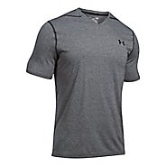 Mens Under Armour Threadborne V-Neck Short Sleeve Technical Tops
