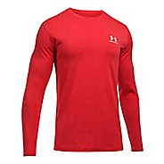 Mens Under Armour Left Chest Long Sleeve Technical Tops