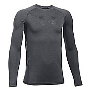 Under Armour Boys Armour Long Sleeve Technical Tops - Carbon Heather YXS
