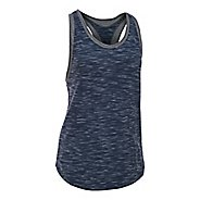 Womens Under Armour Favorite Mesh Sleeveless & Tank Tops Technical Tops - Navy/Carbon XS