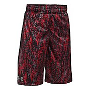Under Armour Eliminator Printed Short Unlined Technical Tops - Red YM