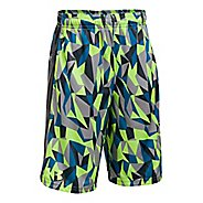Under Armour Eliminator Printed Short Unlined Technical Tops - Lime/Anthracite YL