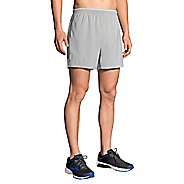 Mens Brooks Go-To 5-inch Lined Shorts - Stone/Sterling XXL