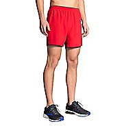 Mens Brooks Go-To 5-inch Lined Shorts - Blaze/Asphalt XXL
