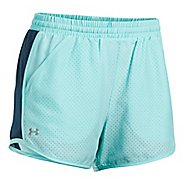 Womens Under Armour Fly By Perforated Unlined Shorts - Blue Infinity S