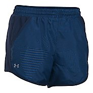 Womens Under Armour Fly By Printed Unlined Shorts - White/Black XS