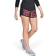 Womens Under Armour Fly By Printed Unlined Shorts - Brilliance/Black XS