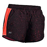 Womens Under Armour Fly By Printed Unlined Shorts - Marathon Red L