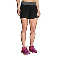 Womens Brooks Cascadia 5-inch Shorts - Black XS