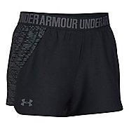 Womens Under Armour Play Up 2.0 Printed Lined Shorts - Black M