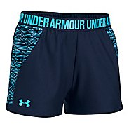 Womens Under Armour Play Up 2.0 Printed Lined Shorts - Charcoal L
